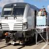 Siemens je kao i na prošlom sajmu predstavio nekoliko verzija nove lokomotive tipa Vectron.